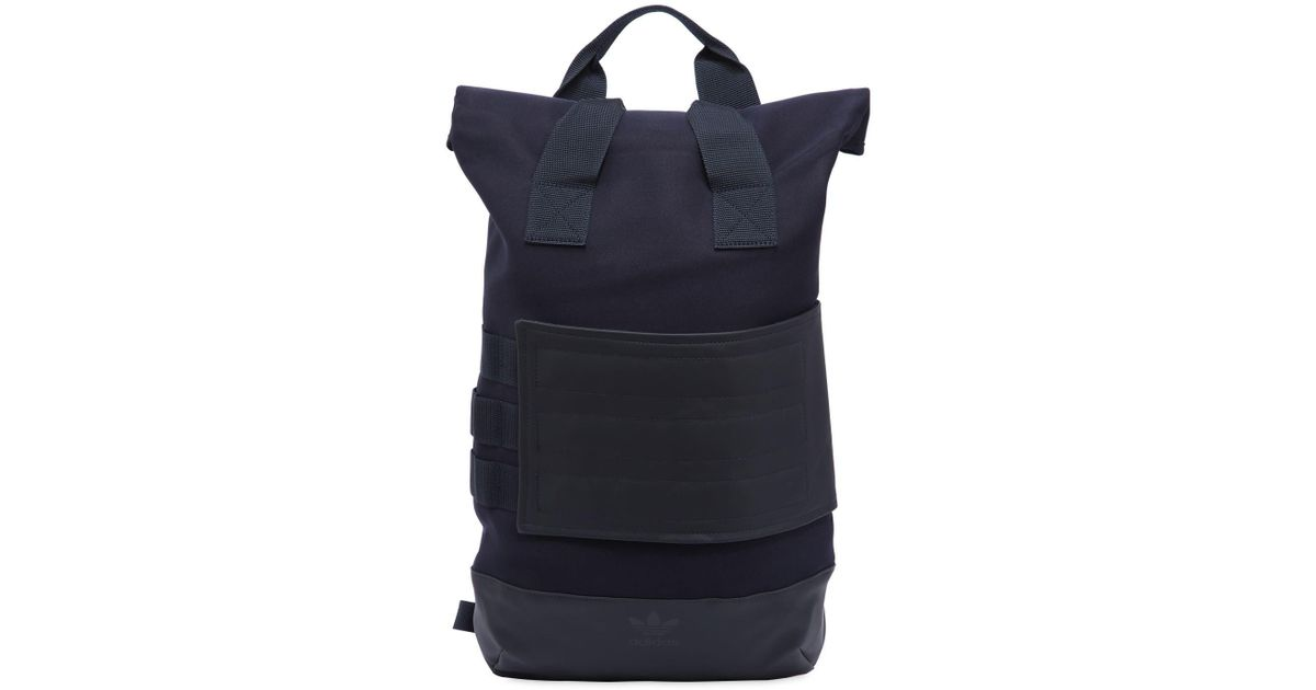 c080da5f7a Lyst - adidas Originals Roll Top Backpack in Blue for Men