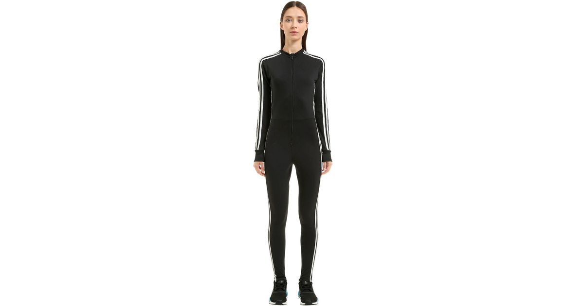 86a9471c183 Lyst - adidas Originals Stage 3 Stripes Tricot Jumpsuit in Black