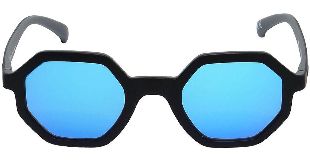 6635ed408b Lyst - adidas Originals Geometric Frames Mirror Sunglasses in Black