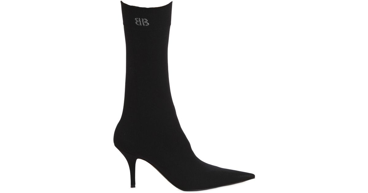 Balenciaga 80MM KNIFE JERSEY OVER THE KNEE BOOTS C9qezdm
