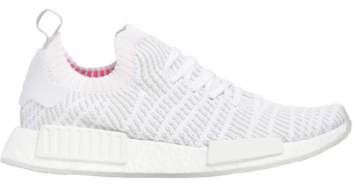 separation shoes 89b58 d0174 adidas Originals Nmd R1 Stlt Primeknit Sneakers in White for