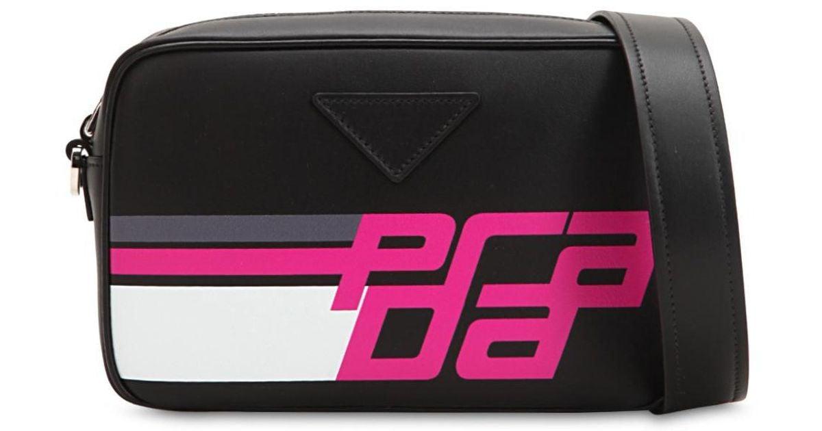 d4c6643148ec Prada Leather Crossbody Bag in Black - Save 58% - Lyst