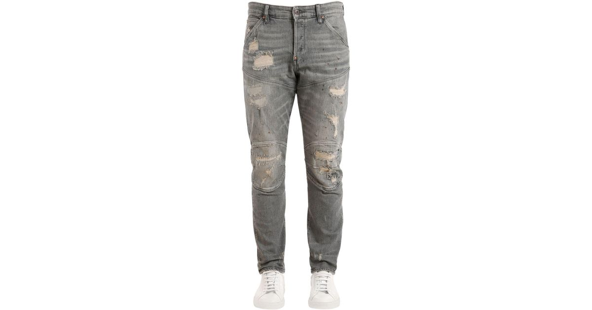 e9e7c631d01 G-Star RAW Raw Essentials 5620 3d Tapered Jeans in Gray for Men - Lyst