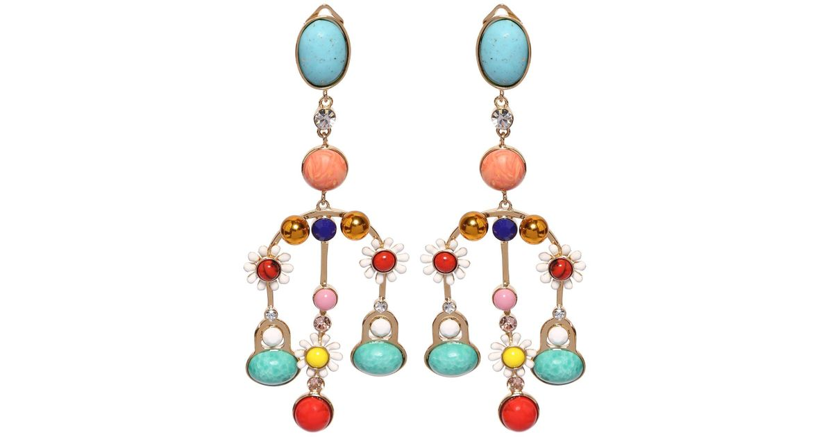 9a2afb24f Elie Saab Chandelier Multicolored Earrings - Lyst