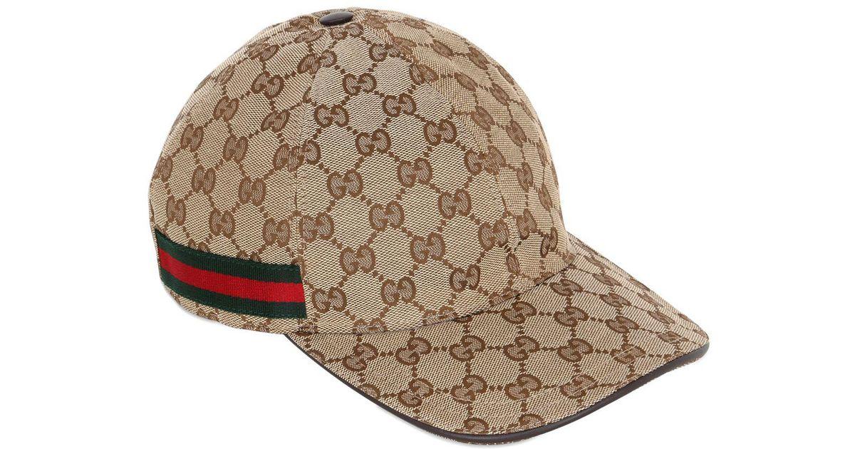 72da2c43c15 Lyst - Casquette de base-ball beige Original GG Gucci pour homme en coloris  Neutre - 16 % de réduction