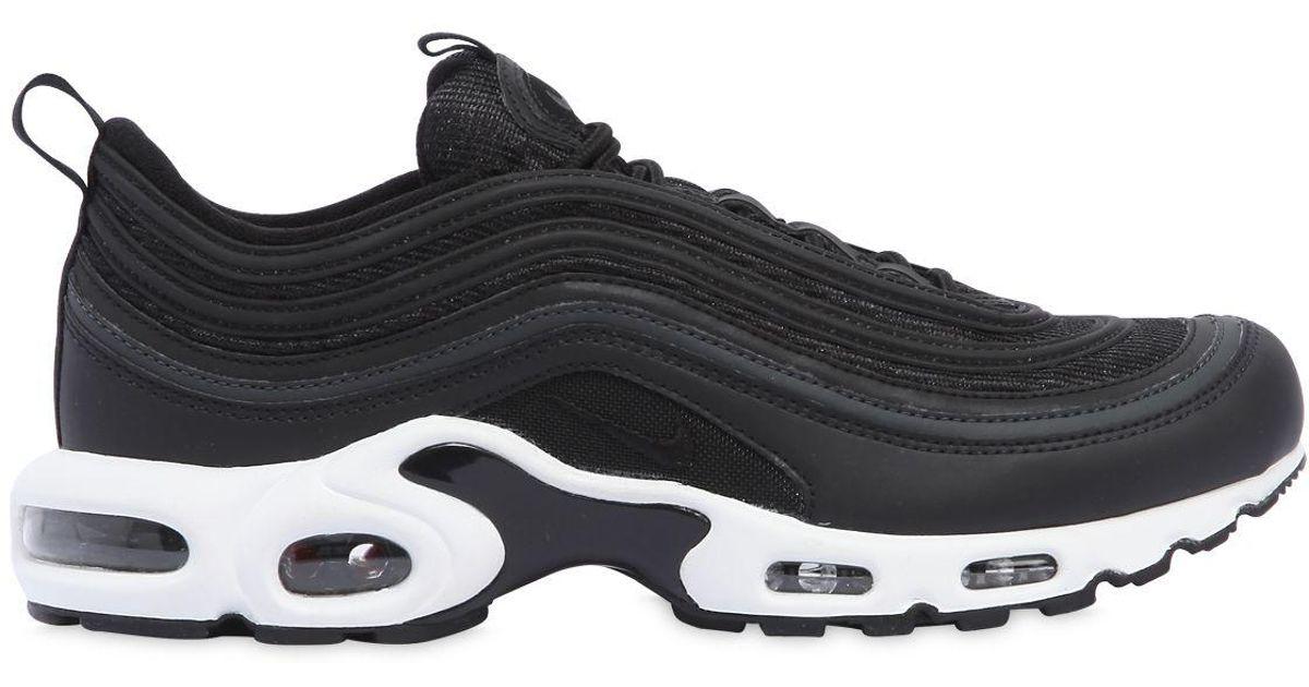 5e95c2f3a4 ... good nike black air max 97 plus hybrid sneakers for men lyst e4a77 40b96