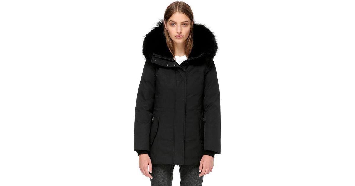 0991061b58b37 ... where to buy lyst mackage danika semi fitted winter down coat in black  f0c94 a9777