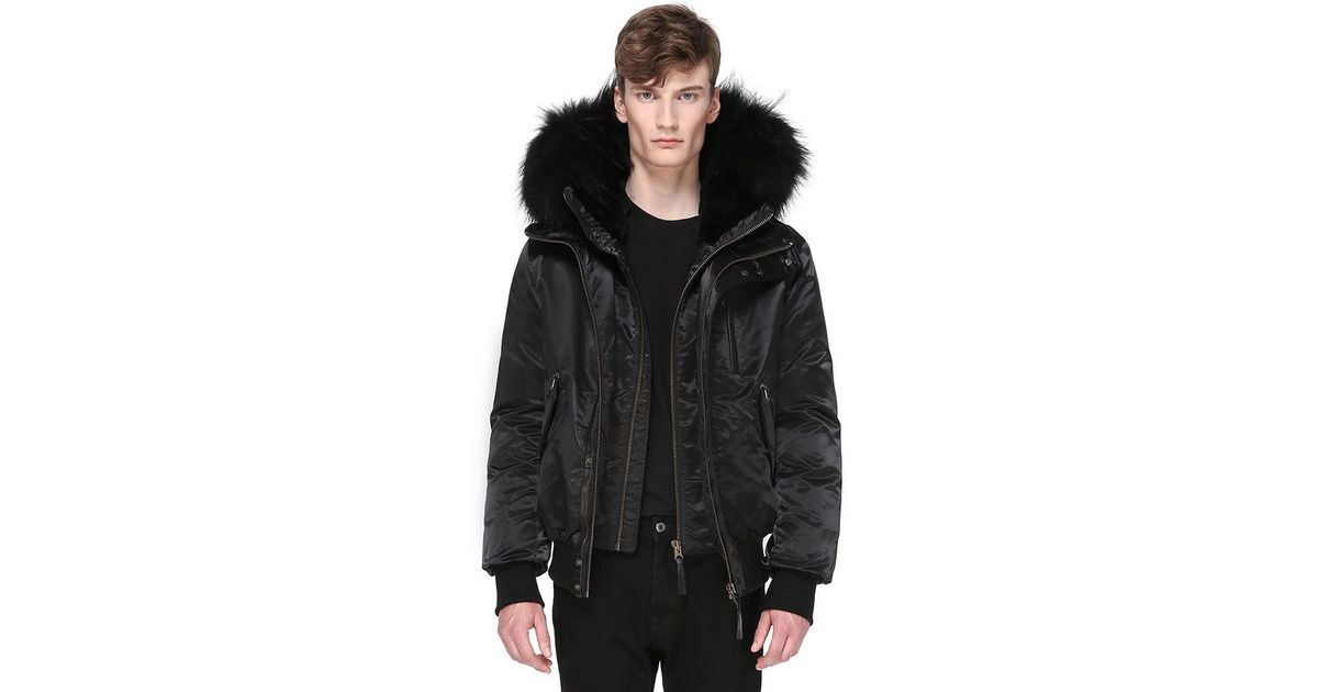 8e887bcdec425 Mackage Dixon-sa Hip Length Winter Down Parka With Fur in Black for Men -  Lyst
