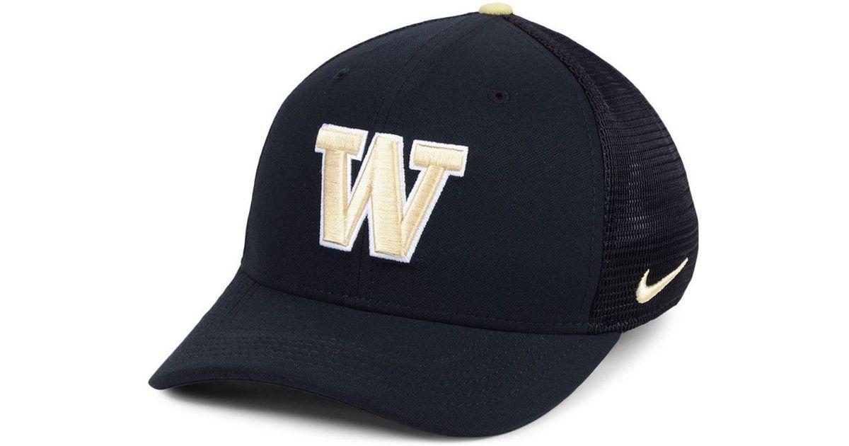Lyst - Nike Washington Huskies Col Aro Swooshflex Cap in Black for Men ea0be4ab1e99