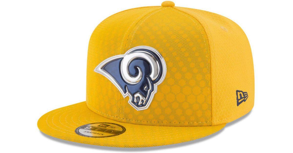 25fda1880 Lyst - KTZ Los Angeles Rams On Field Color Rush 9fifty Snapback Cap in  Metallic for Men