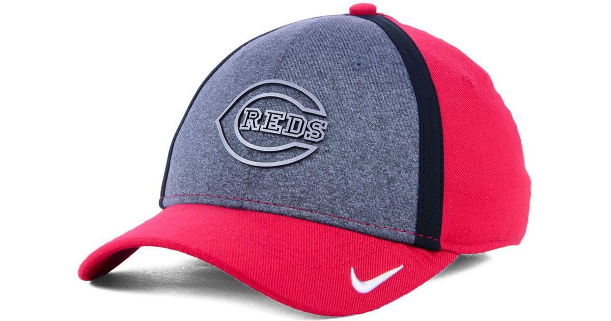 the latest d009f 4d6f3 Nike Cincinnati Reds Team Color Reflective Swooshflex Cap in Red for Men -  Lyst