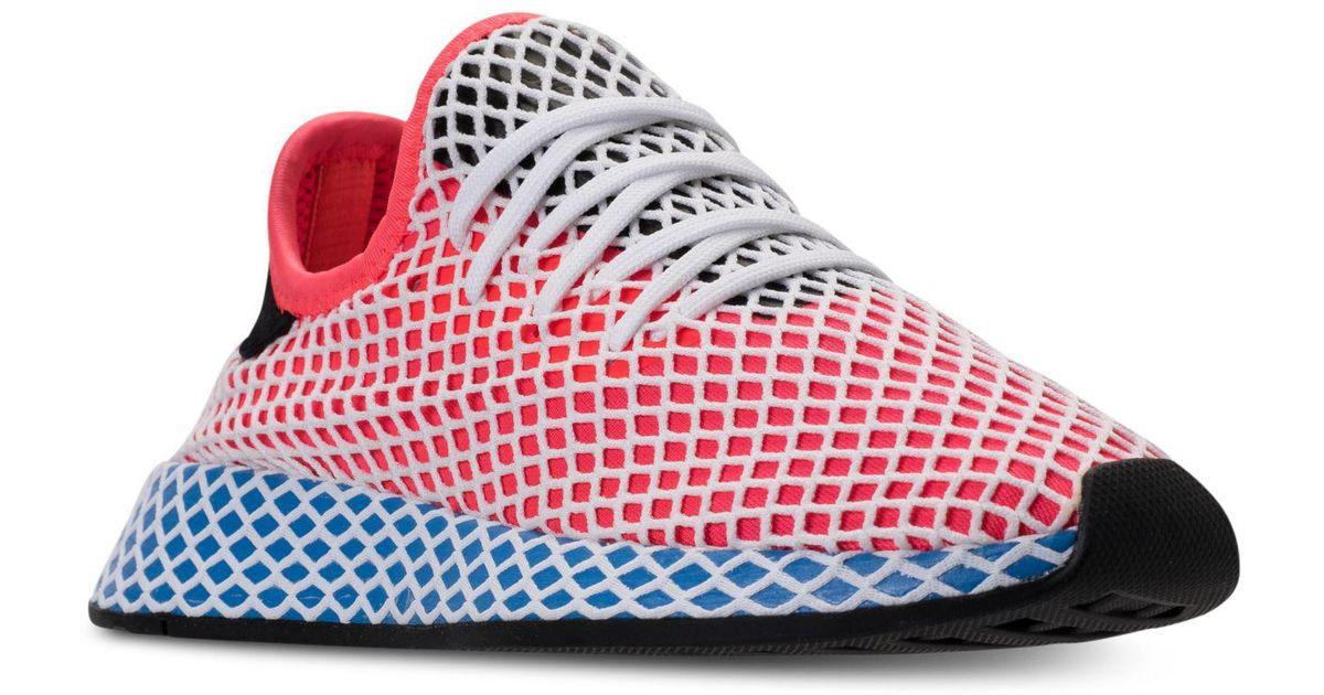 Deerupt Lyst Adidas Runner casual zapatillas de la línea de meta en rojo