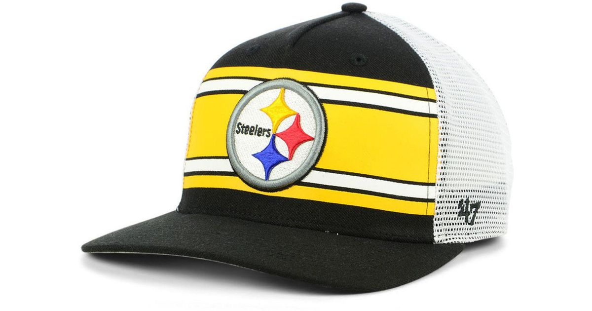 95f9fb665fed9 47 Brand Pittsburgh Steelers Team Stripe Mvp Cap for Men - Lyst