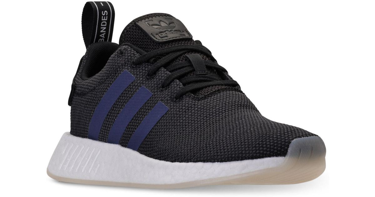 539ccb1d7 Lyst - Adidas Women s Nmd R2 Casual Sneakers From Finish Line in Black