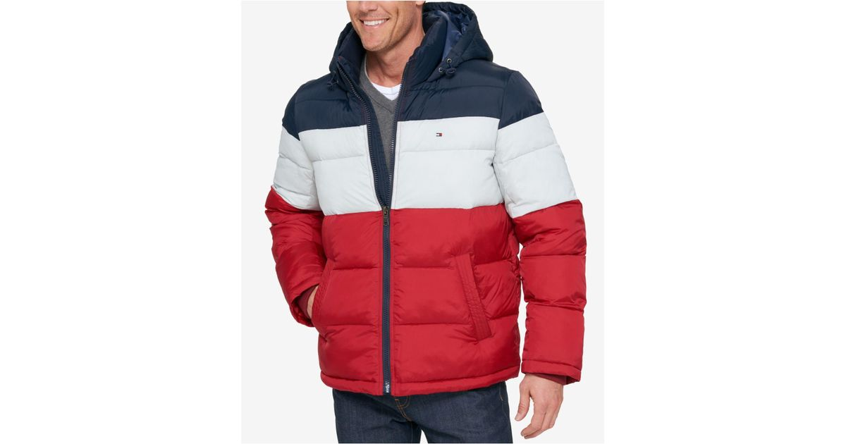 a58d3f0c3a09 Lyst - Tommy Hilfiger Men s Classic Hooded Puffer Jacket for Men