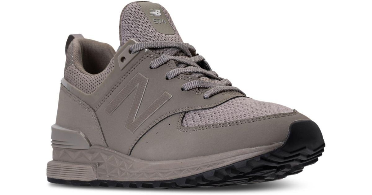 new product 49b29 4b599 Lyst - New Balance Men s 574 Synthetic Casual Sneakers From Finish Line in  Natural for Men