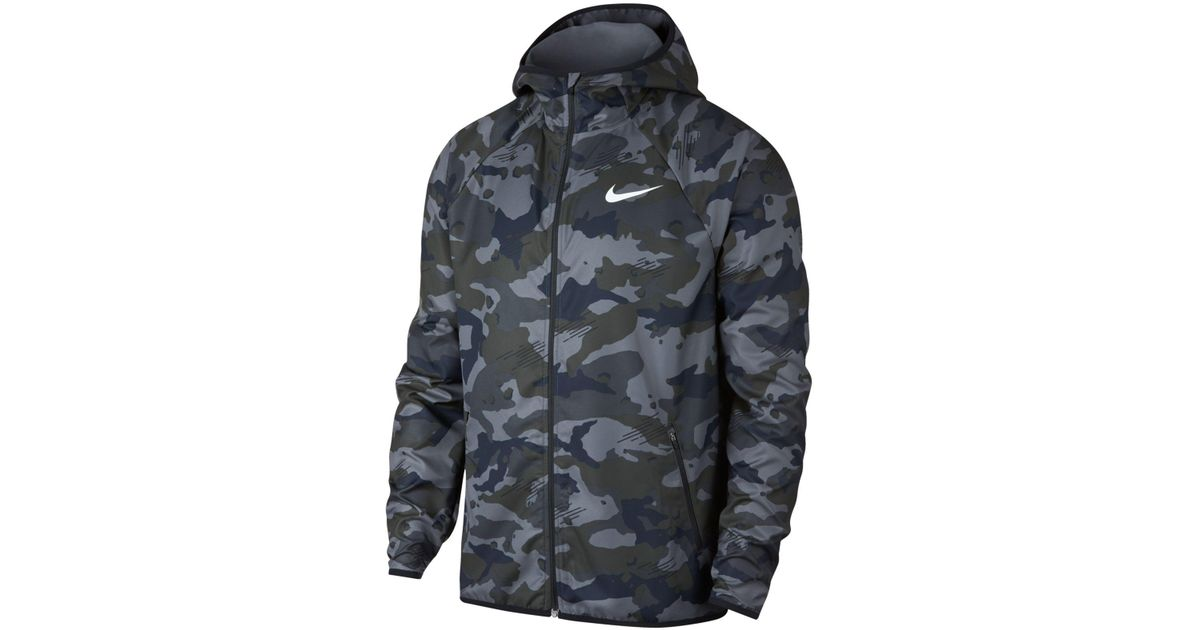 9ea5a543320d3 Nike Dry Jacket Team Woven 2l Camo (vast Grey/atmosphere Grey/black)  Clothing for Men - Save 29% - Lyst