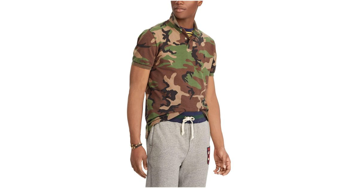 0c8ca109c6 Polo Ralph Lauren Classic Fit Camouflage Polo in Green for Men - Save 60% -  Lyst