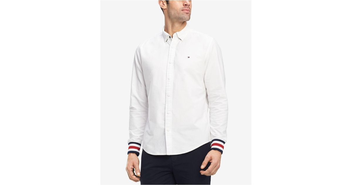 fbef1efd Tommy Hilfiger Edward Shirt, Created For Macy's in White for Men - Lyst