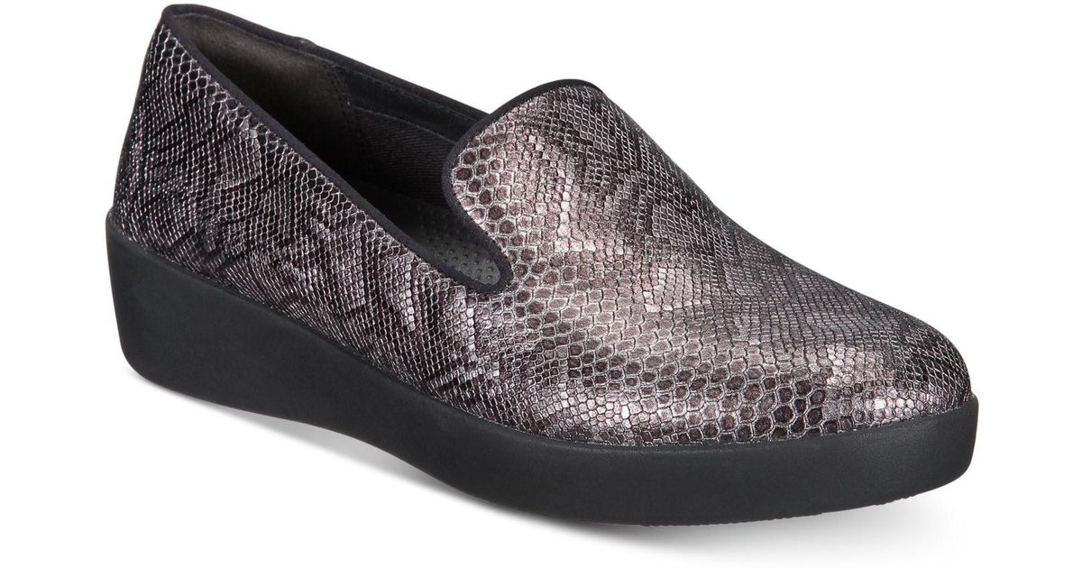 2534aa521b01 Lyst - Fitflop Audrey Slip-resistant Loafers in Black