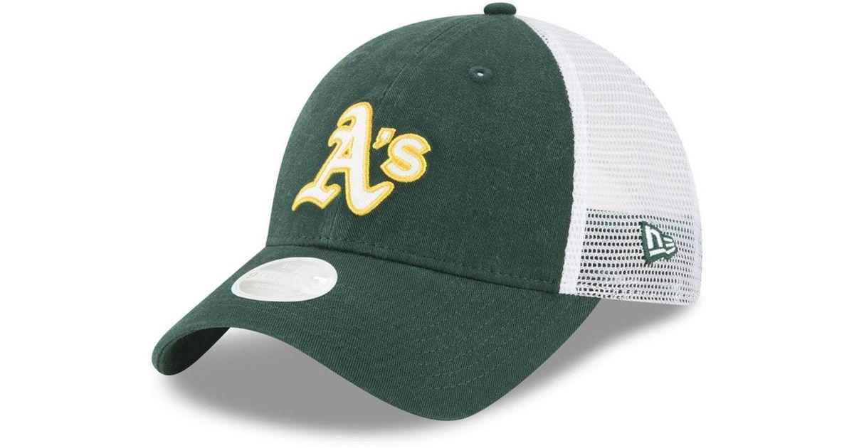 789d763a154f83 ... clearance lyst ktz oakland athletics trucker shine 9twenty cap in green  for men ed9b8 42083