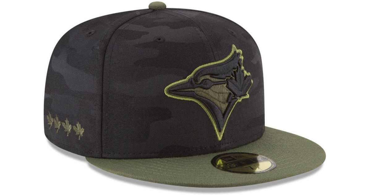 new style 860b1 38c05 ... sale lyst ktz toronto blue jays memorial day 59fifty fitted cap for men  34f81 24ca0