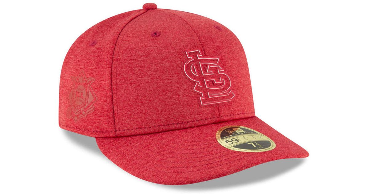 40d1cf4afce Lyst - KTZ St. Louis Cardinals Clubhouse Low Crown 59fifty Fitted Cap in Red  for Men