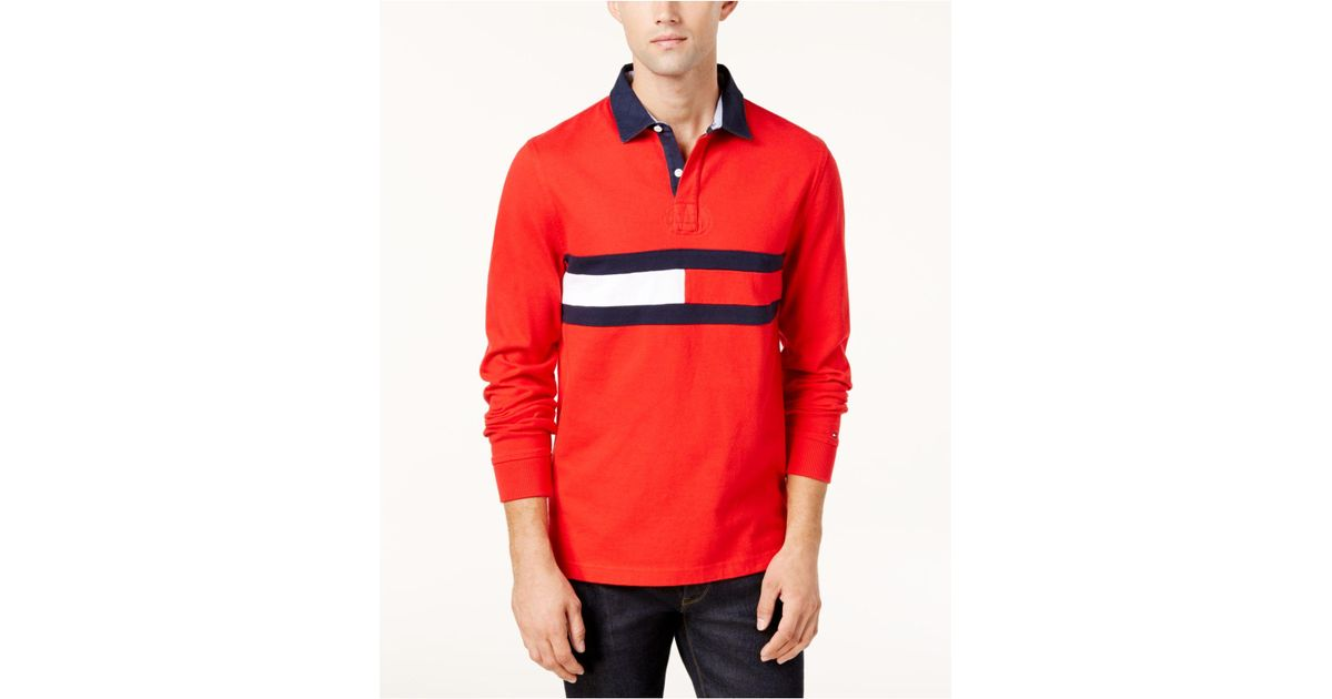 a12579cca2b9 Lyst - Tommy Hilfiger Men s Jim Rugby Shirt in Red for Men