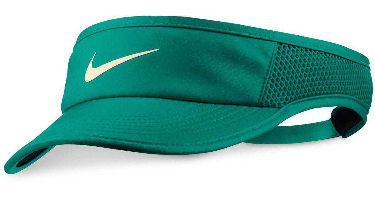 Lyst - Nike Court Aerobill Tennis Visor in Green ea8b81ba591