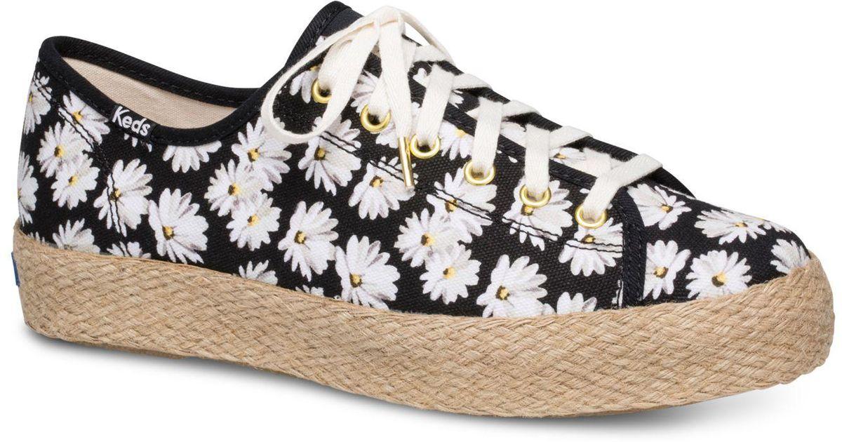 1e0373e4a91 Lyst - Keds Triple Kick Daisy Sneakers in Black