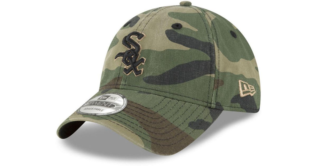 competitive price 9d15d 0d26d Lyst - KTZ Chicago White Sox Camo Core Classic 9twenty Cap in Green for Men