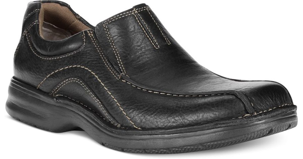 Clarks Men S Pickett Slip On Shoes In Black For Men Lyst