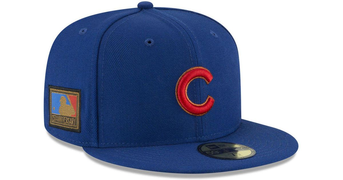 premium selection 6375b 77596 Lyst - KTZ Chicago Cubs Ultimate Patch Collection 125th Anniversary 59fifty  Fitted Cap in Blue for Men