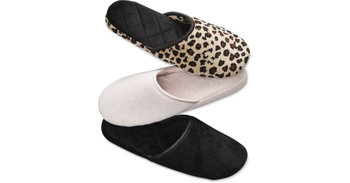 Charter Club Microvelour Scuff Memory Foam Slippers Only