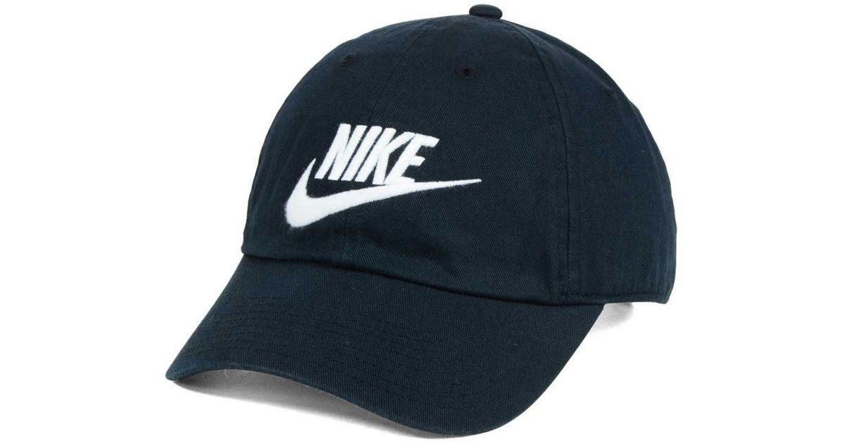 best cheap 82221 98ab1 Lyst - Nike Futura Washed 86 Cap in Black for Men