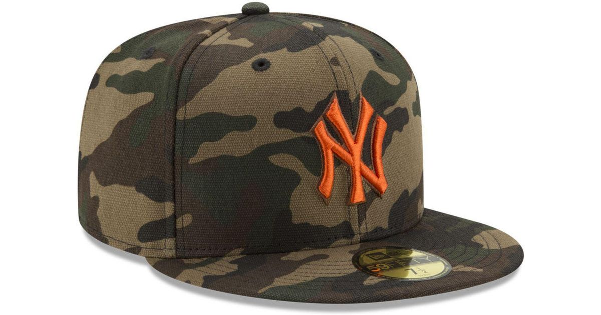 7ed8de9ddef Lyst - KTZ New York Yankees Camo On Canvas 59fifty Cap in Green for Men