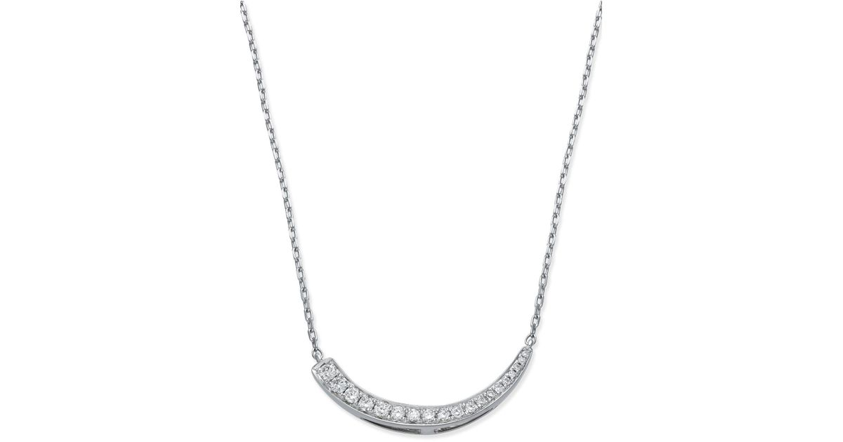 Lyst macys diamond journey pendant necklace 14 ct tw in 14k lyst macys diamond journey pendant necklace 14 ct tw in 14k white gold in metallic aloadofball Images