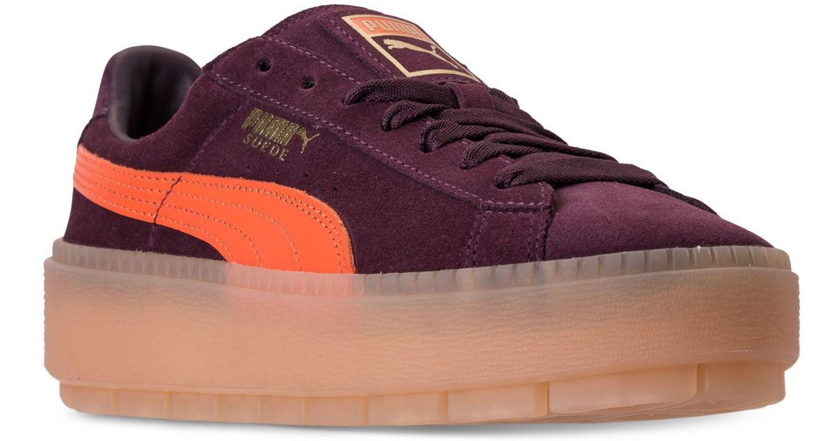 ab229dadb392 Lyst - PUMA Women s Suede Platform Rugged Casual Sneakers From Finish Line