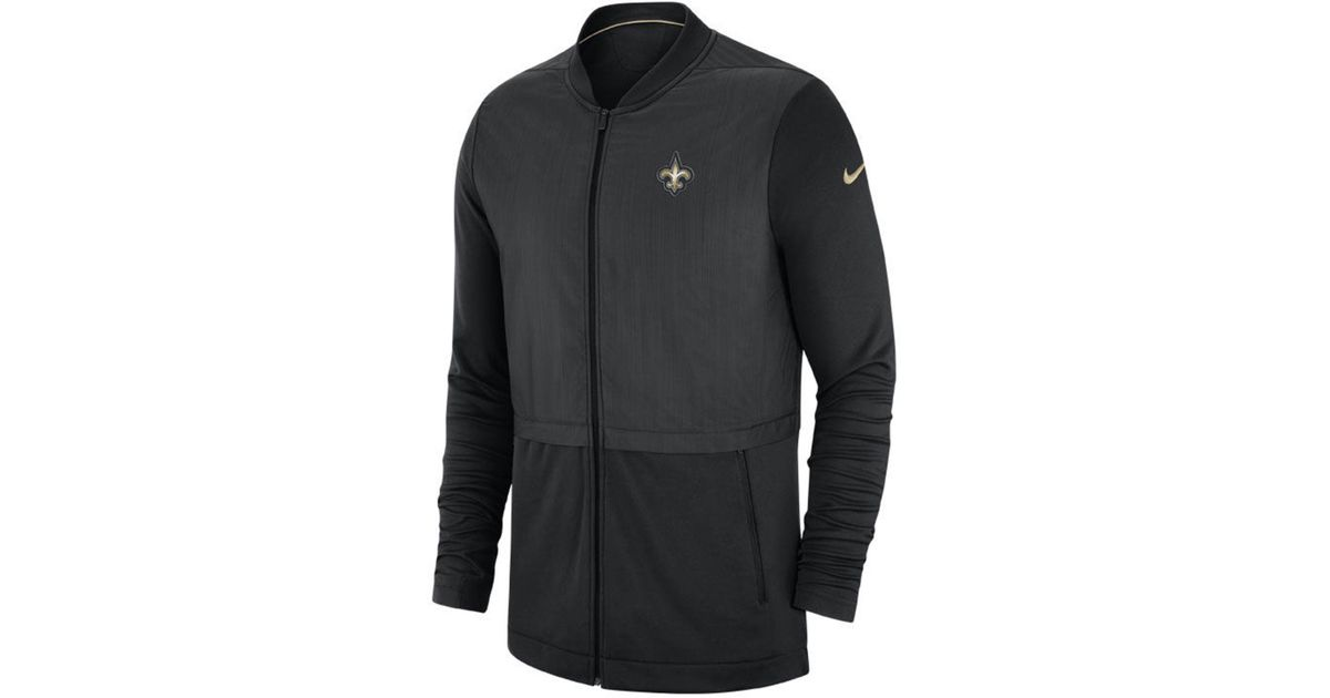best sneakers 591eb 5e4d7 Nike - Black New Orleans Saints Elite Hybrid Jacket for Men - Lyst