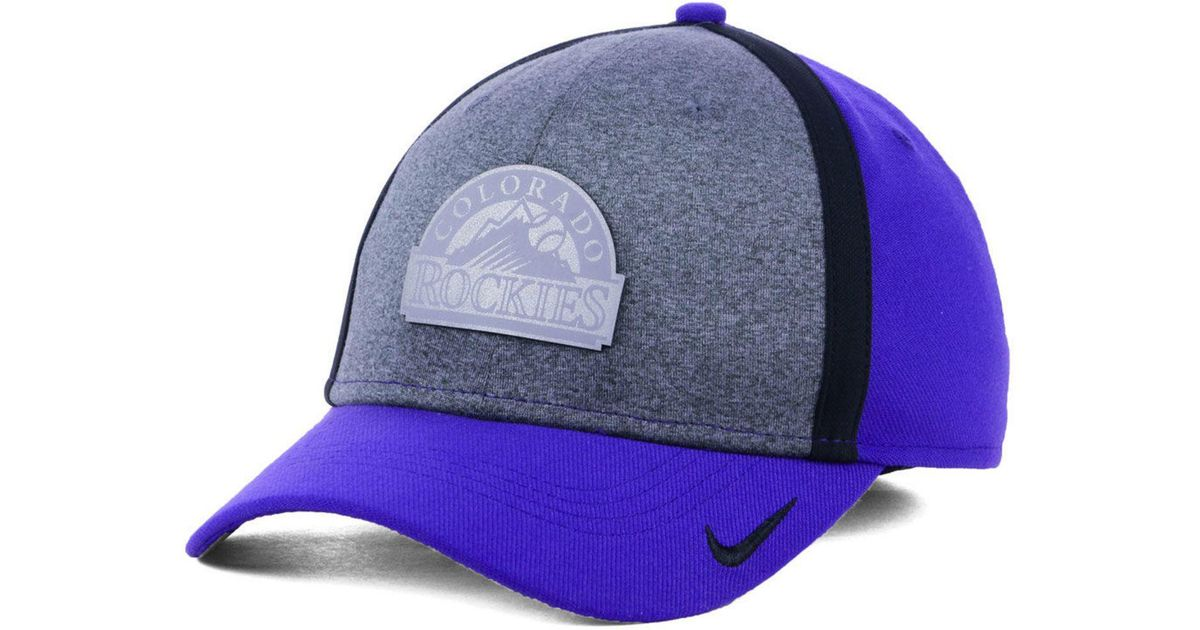 the best attitude ddf4d 88e64 Nike Colorado Rockies Team Color Reflective Swooshflex Cap in Blue for Men  - Lyst