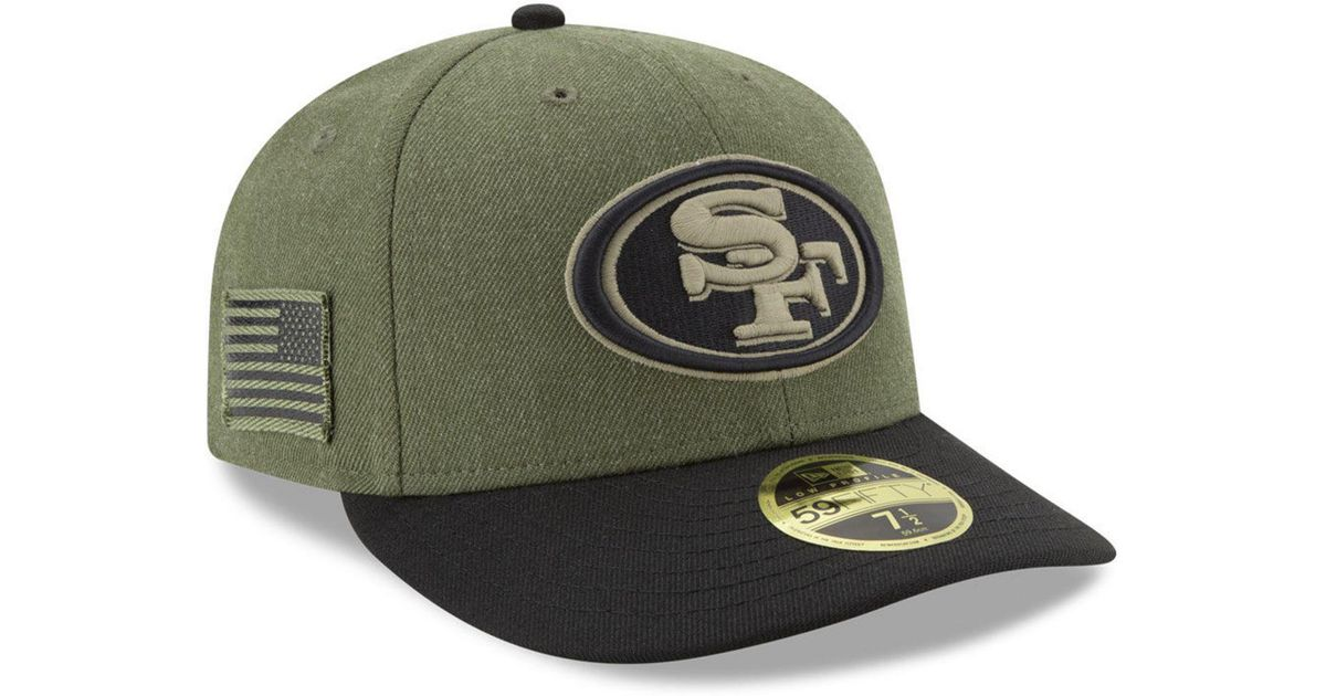 0277b2e23 Lyst - KTZ San Francisco 49ers Salute To Service Low Profile 59fifty Fitted  Cap 2018 in Green for Men