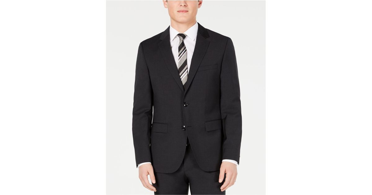 9d3bd1ab0 Lyst - BOSS Slim-fit Stepweave Suit Jacket in Gray for Men