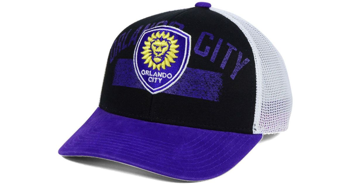 buy popular 17d34 0ef56 adidas Truckn Adjustable Cap in Purple for Men - Lyst