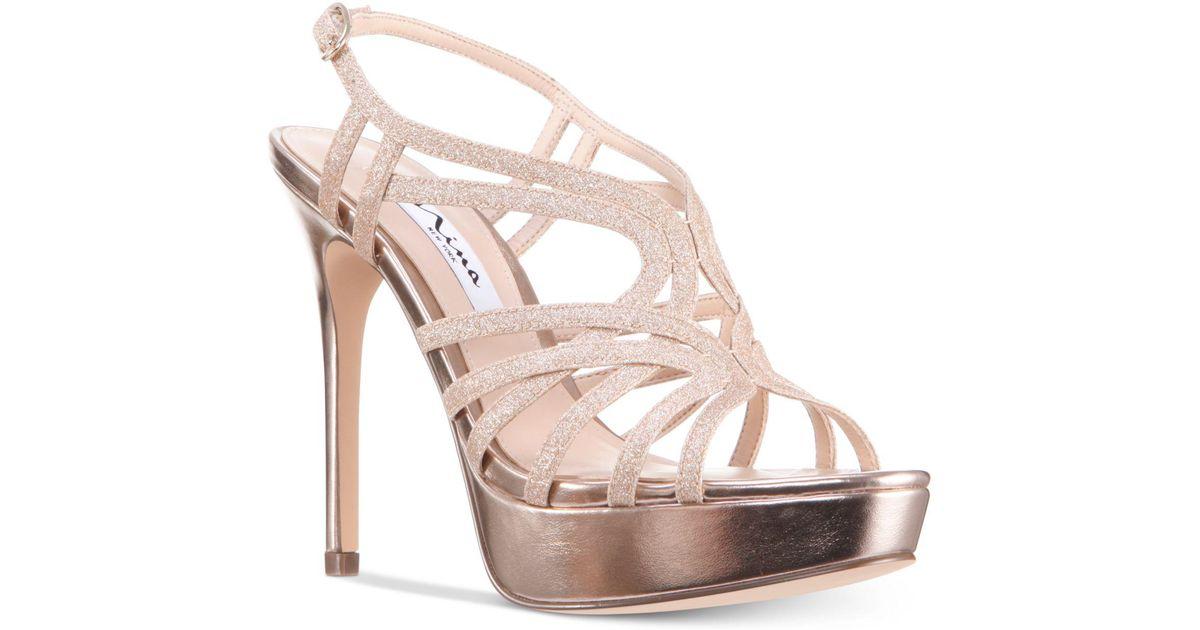Solina Platform Glitter Caged Dress Sandals oBK2pF6xG