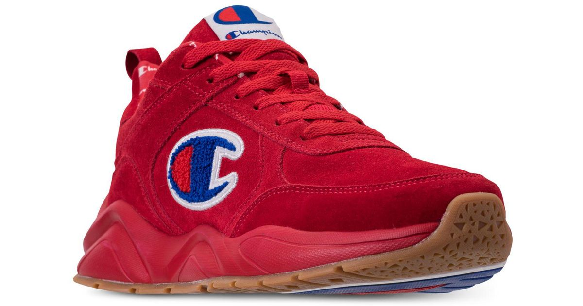 4a7026eb21e Lyst - Champion 93eighteen Suede Chenille Athletic Training Sneakers From  Finish Line in Red for Men