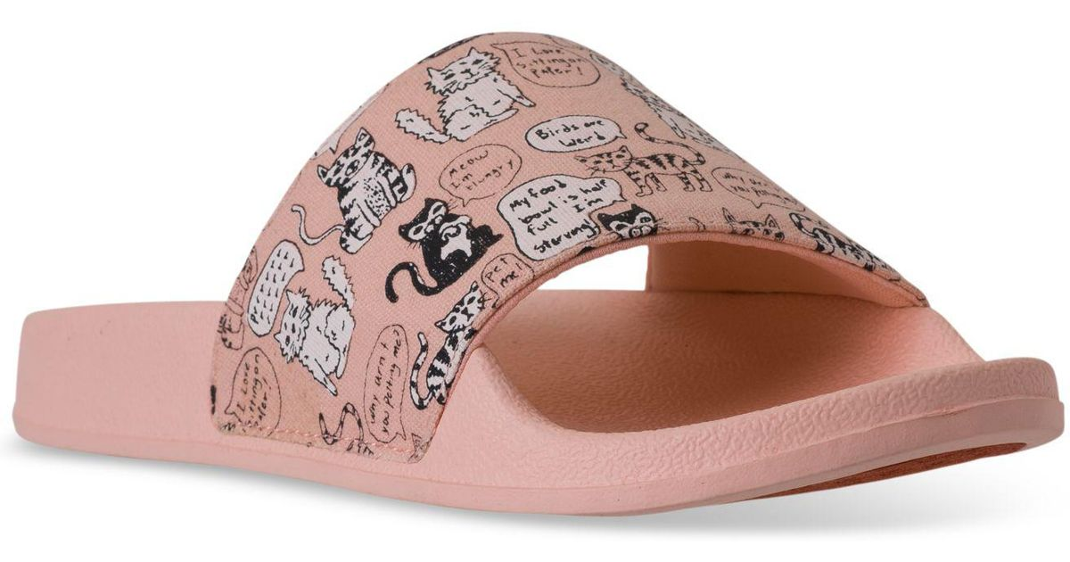 b0aee55c10c5 Lyst - Skechers Bobs Pop-ups - Cat Chat Bobs For Dogs Slide Sandals From  Finish Line in Pink