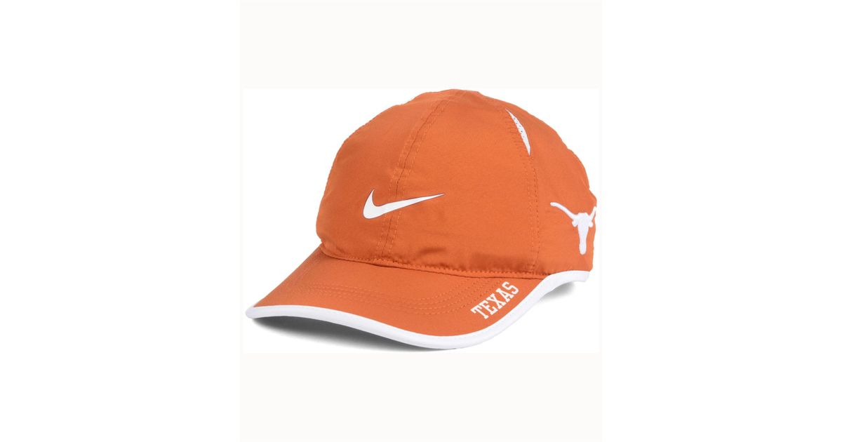huge selection of e85dd 1f2ea Nike Texas Longhorns Featherlight Cap in Orange for Men - Lyst