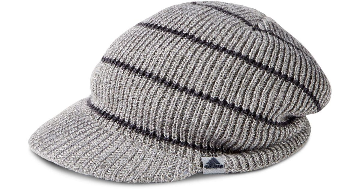 cbbecafef6d Lyst - adidas Men s Ace Brimmer Beanie in Gray for Men