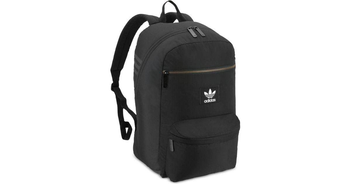 Lyst - adidas Originals National Plus Backpack in Black for Men ec052a7179c19