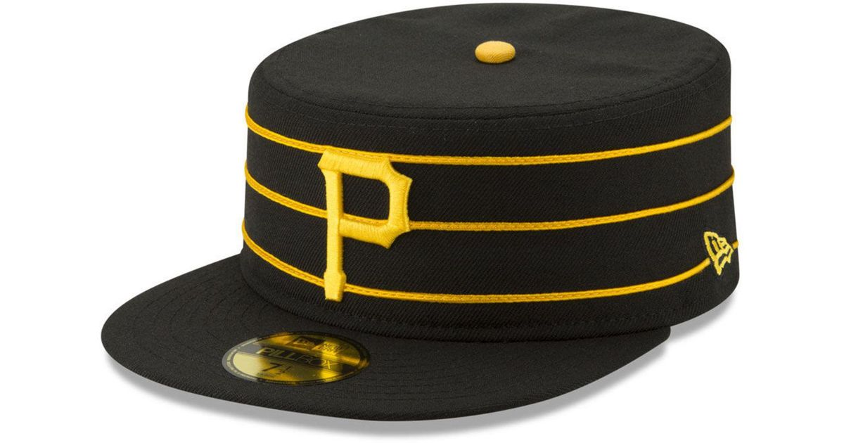Lyst - KTZ Pittsburgh Pirates Pillbox 59fifty-fitted Cap in Black for Men 4299d813d66
